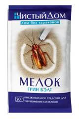 Мелок-простое, удобное и экономное средство от тараканов. Мелок легко наносится на деревянные, керамические и другие поверхности. Меловая полоска содержит действующее вещество, контактируя с которым насекомые быстро погибают.